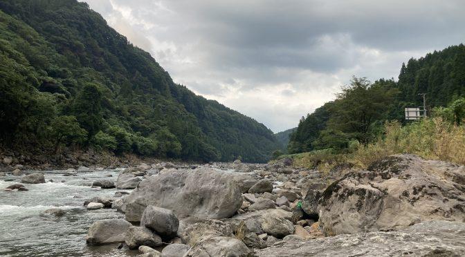 2021年豪雨後玖珠川ボルダー(2021/8/23)